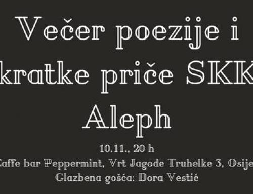 Večer poezije i kratke priče SKK Aleph