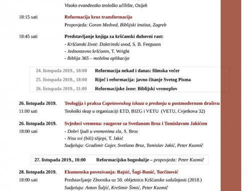 Tjedan reformacije u Osijeku